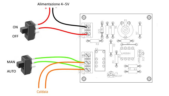 Schema Elettrico Termostato Ambiente : Termostato